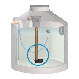 2. Stufe zur Reinigung von Regenwasser - beruhigter Zulauf